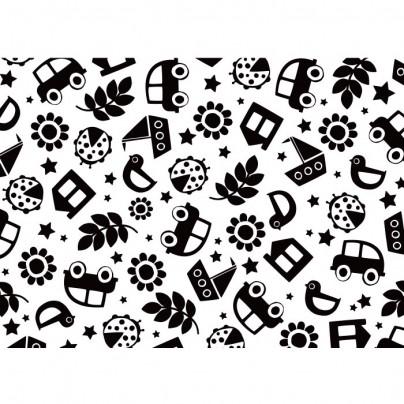 Hikje - Kaart zwart/wit